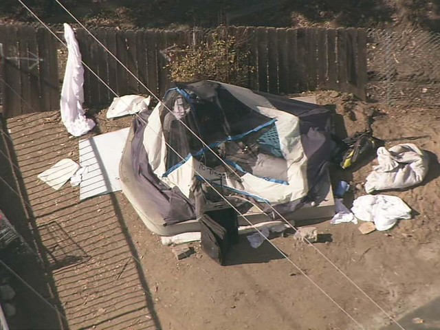 Woman's body found inside tent in Van Nuys