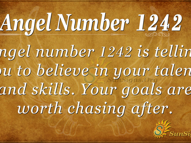 Angel Number 1242 Meaning: Faith And Trust