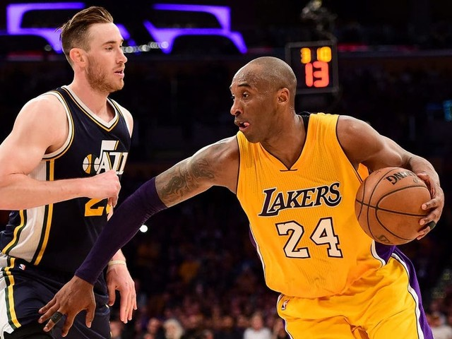 Mike Tirico believed Gordon Hayward stepped in the lane to get Kobe to 60 points in his final game, but Hayward says 'I didn't give him anything free all night.'