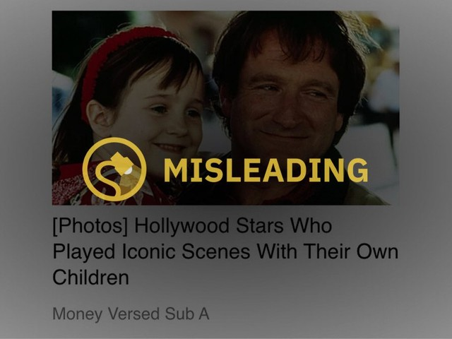 Did Robin Williams Act in Movies with 'Daughter' Mara Wilson?