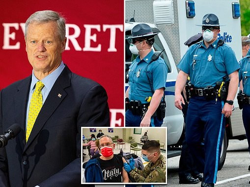 Massachusetts police union announce resignation of dozens of officers over state's vaccine mandate