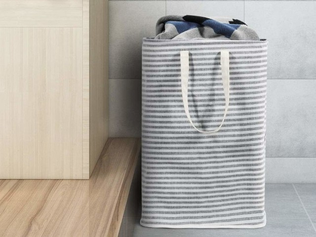 Lug All of Your Dirty Clothes to the Laundry Room In This $14 Hamper