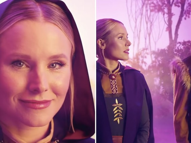"""Kristen Bell Blesses the Snow Down in Arendelle For Weezer's """"Lost in the Woods"""" Music Video"""