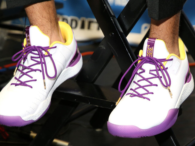 Lonzo Ball releases Laker-color sneakers and they cost $495