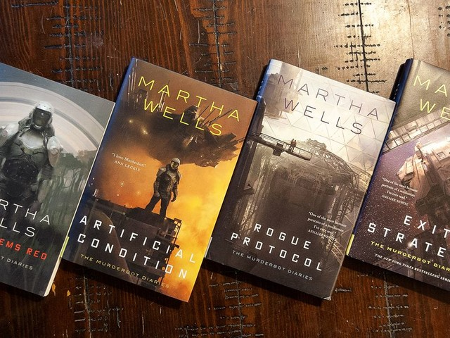 Martha Wells' Murderbot series is a fantastic story about what it means to be human