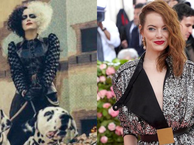 Emma Stone looks unrecognizable as the iconic Disney villain Cruella de Vil in her upcoming live-action movie