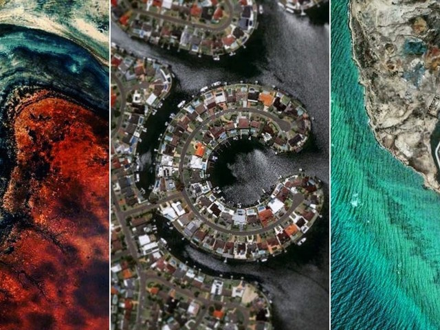A photographer edits Google Earth photos to showcase some of the world's lesser-known destinations without even leaving his house