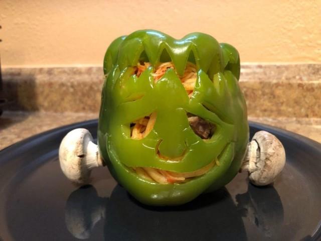 Frankenstein's Monster Bell Pepper