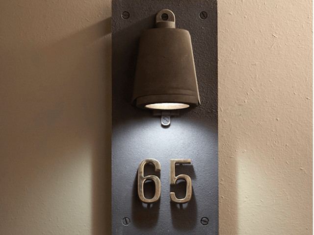 Object of Desire: Housenumber Sconce from Belgium