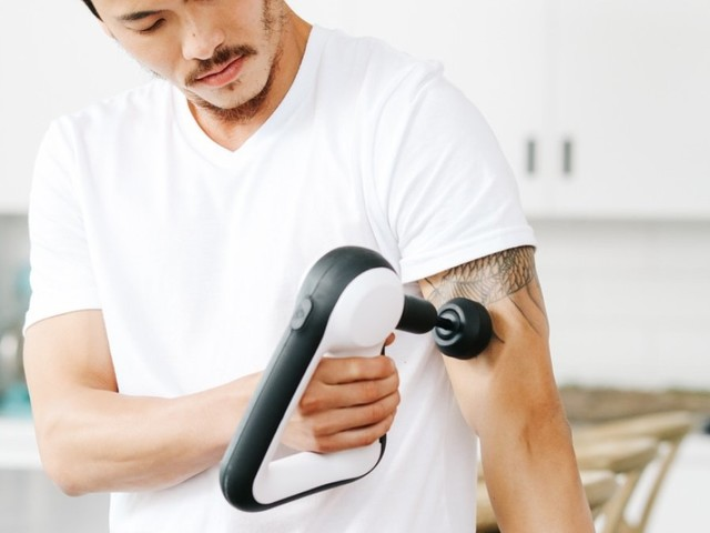 Gym buffs and athletes will love the Theragun massager for treating sore muscles