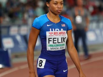 #BLACKGIRLMAGIC: Olympic Sprinter Allyson Felix's Post-Pregnancy Return Breaks World Record Held By Usain Bolt
