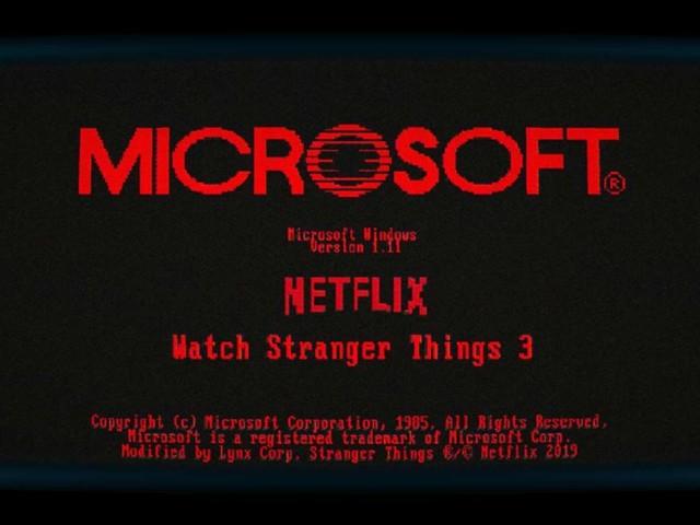 Microsoft's retro Windows teasers emerge as a Stranger Things promo: the Windows 1.11 app