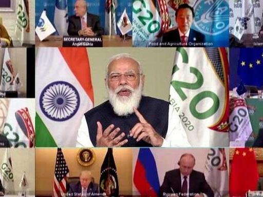 G-20 summit opens as Saudi King urges united response to virus