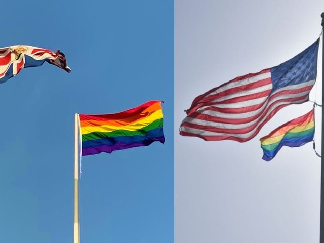 British and American embassies in homophobic UAE boldly fly Pride flags