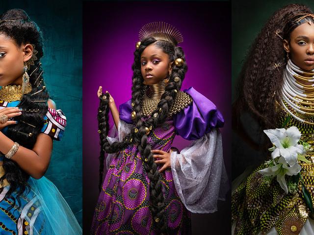 Portraits of Black Girls as Disney Princesses
