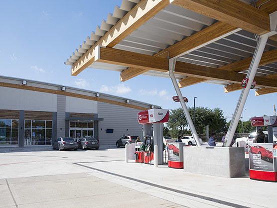Convenience Store, Food, Fuel Now at Cell Phone Lot