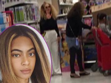 NO PICTURES PLEASE! Beyonce & Blue Ivy Make A Target Run + Bey's Real Life Doppelgänger Says She's Constantly Mobbed By Fans & We See Why!