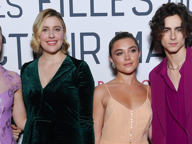 The Little Women Cast Holding Hands at the Paris Premiere Is So Sweet
