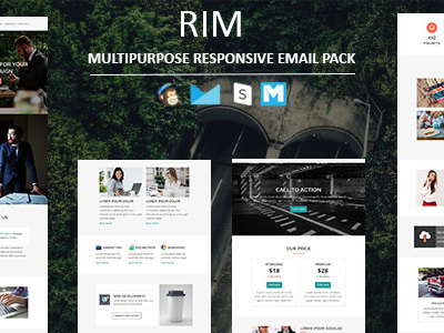 Rim - Multipurpose Responsive Email Template with Stampready Builder Access (Newsletters)