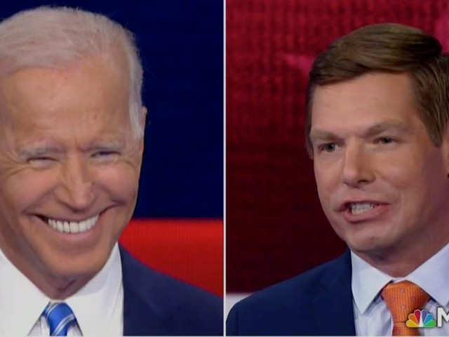 38-year-old Eric Swalwell insinuates that Joe Biden is too old to be president