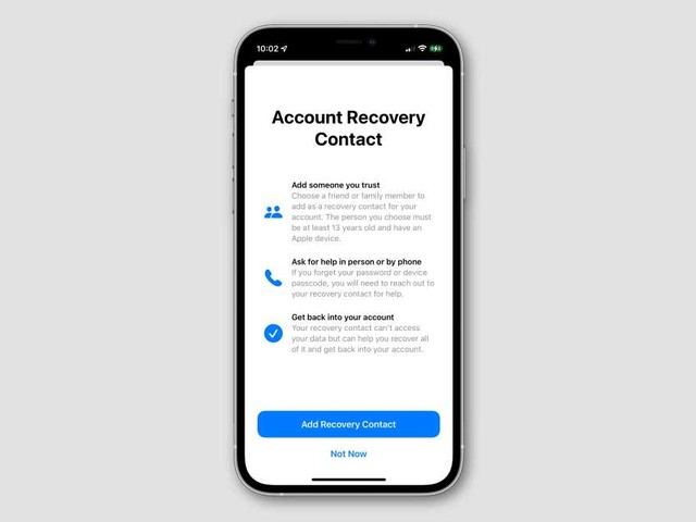 iOS 15: How to add a Recovery Contact so won't get locked out of your account