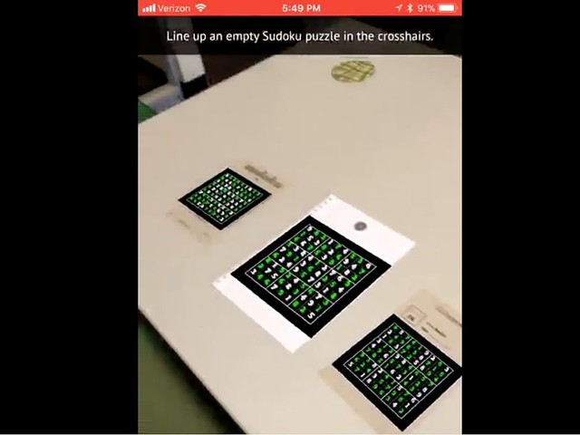 AR Sudoku-solving app showcases the combined power of Apple's Vision, Core ML and ARKit [Video]