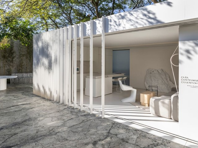 The humble shipping container home gets a luxurious upgrade