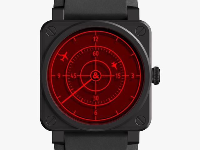 This Stealthy Pilot's Watch Looks Like Radar for Your Wrist