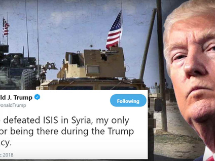 """Death Knell For Syria Pullout: """"We Have To Protect Israel"""" Says Trump"""