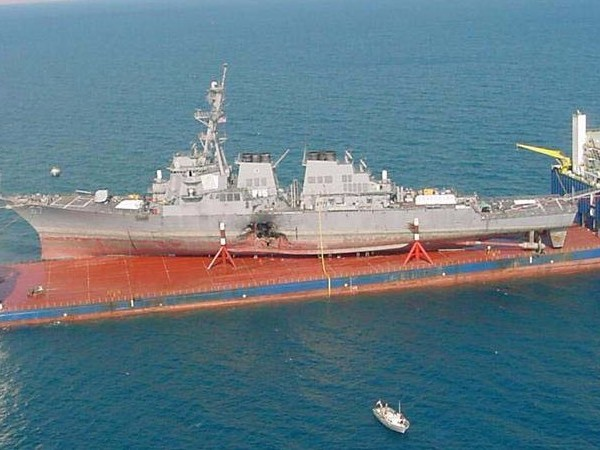 This is the massive ship that will take the damaged USS John S. McCain back to Japan