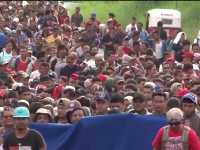 Trump Lashes Out At Caravan Of Migrants Headed For US-Mexico Border As Crossings Spike