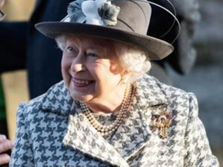 Well-wishers greet UK queen after Harry, Meghan announcement