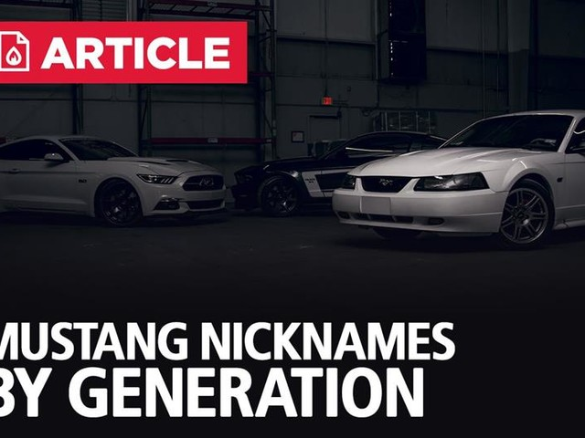 Mustang Nicknames By Generation