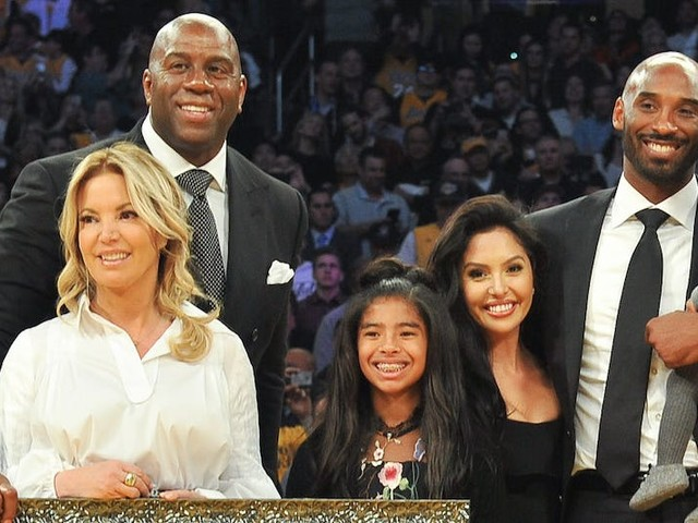 LA Lakers owner Jeanie Buss called Kobe Bryant 'family' in an emotional tribute, and said he inspired her to be a strong female leader in the NBA