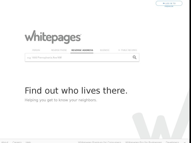 Reverse Address Lookup & Address Search   Whitepages