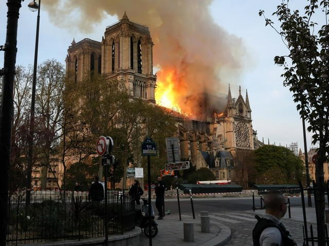 Billionaires pledge to rebuild Notre Dame Cathedral, which burned down yesterday