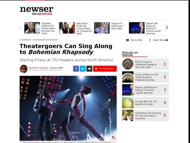Theatergoers Can Sing Along to Bohemian Rhapsody