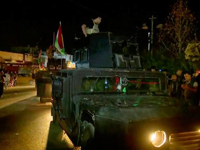 Iraqi forces drive Kurds from disputed areas near Kirkuk