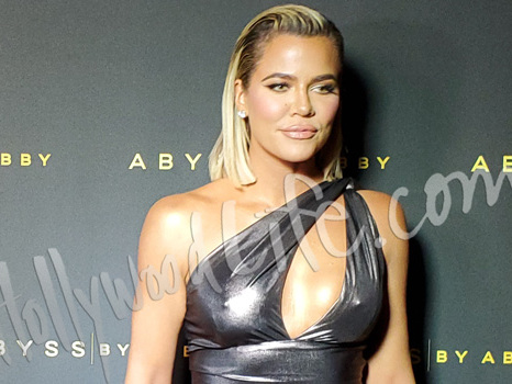 Khloe Kardashian Stuns In High-Slit Metallic Gown With Slicked Back Hair At LA Event — See Pic
