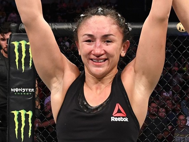 Carla Esparza says fan dumped beer on her after UFC Mexico win