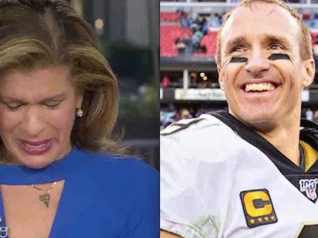 'Heartbroken' Hoda Kotb breaks down after interviewing star quarterback Drew Brees who's donating $5M to Louisiana for coronavirus relief