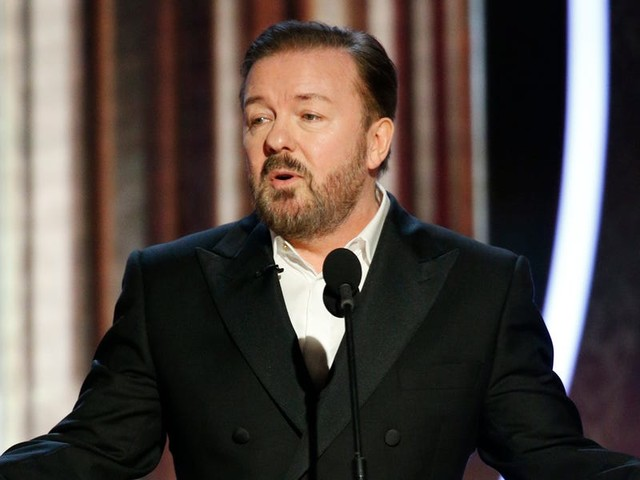 Ricky Gervais kicks off the Golden Globes with a wild introduction that essentially told Hollywood to f--- off