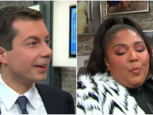 "Cringe at Mayor Pete declaring he is ""100% that nominee"" right next to Lizzo"