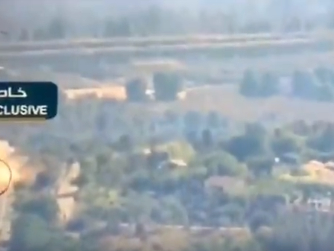 Hezbollah TV Airs Footage Of Missile AttackOn Israeli Army Vehicle