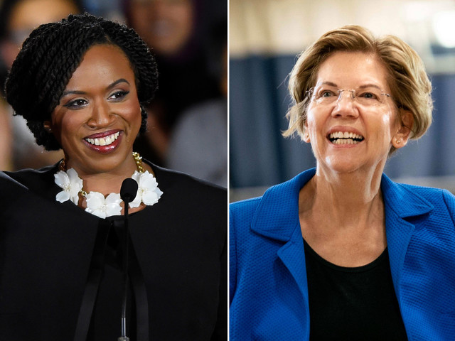 Rep. Ayanna Pressley endorses Elizabeth Warren for president, breaks with 'The Squad'