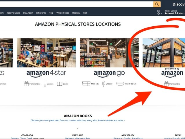 Amazon quietly started promoting a new kind of store after pulling the plug on its pop-up kiosks (AMZN)