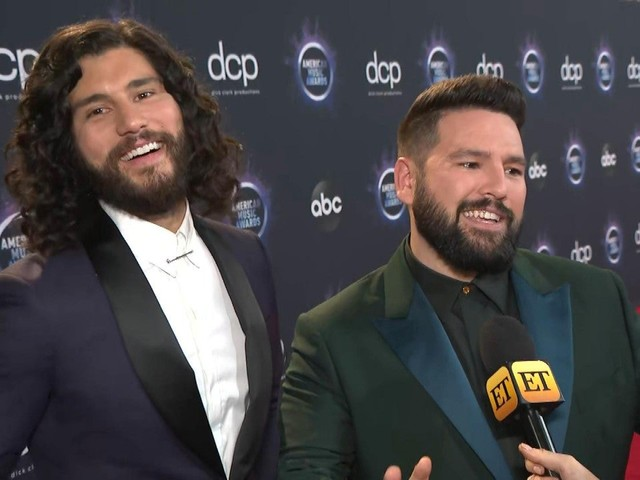 Dan + Shay Joke They Were 'Waiting' for Shawmila to Kiss During 2019 AMAs 'Senorita' Performance (Exclusive)
