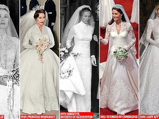 How Kitty Spencer's wedding dress was inspired by Grace Kelly