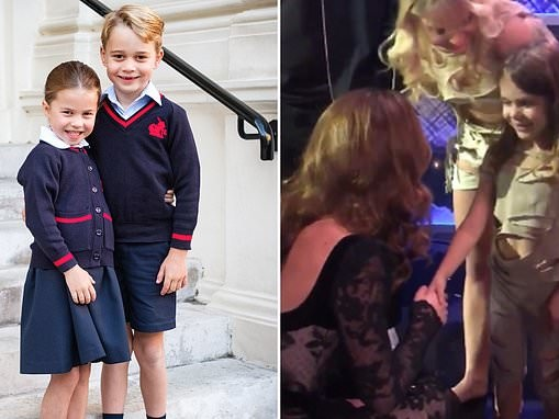 Kate told six-year-old gymnast that Prince George and Princess Charlotte loved to do cartwheels