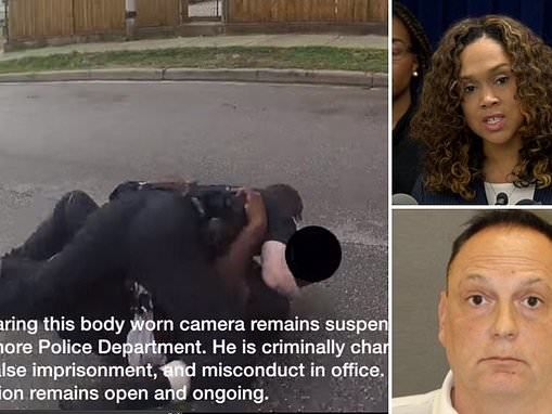 Cop is indicted on 32 counts of false imprisonment, assault and misconduct based on body cam footage